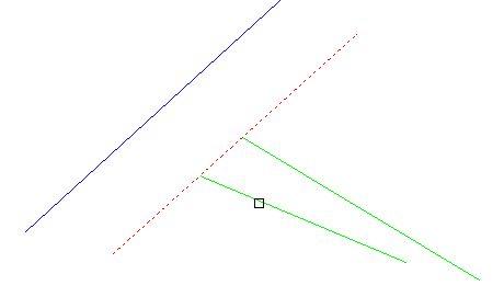 TRIMコマンドで線を伸ばした