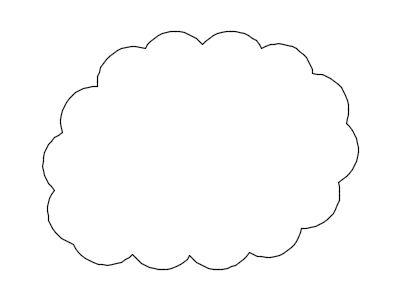 一般的な雲マーク