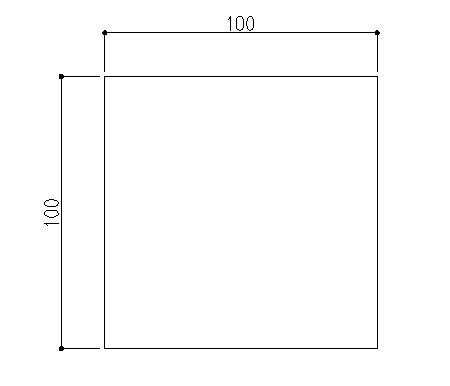 100x100の四角形作成