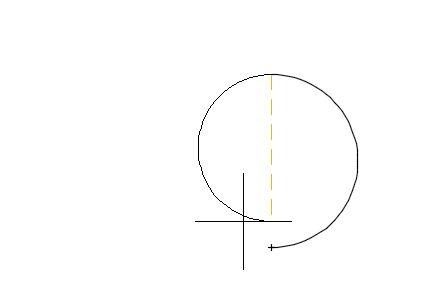 1つ目の円弧作成完了