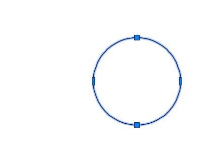 ポリラインの円作成完了
